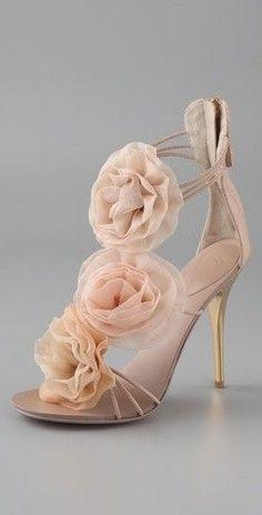 pink rosette heels