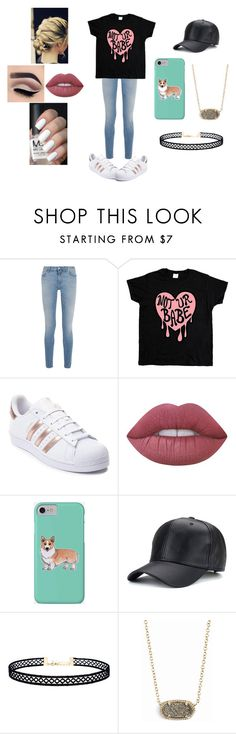"""""""Untitled #265"""" by raven-legs ❤ liked on Polyvore featuring Givenchy, adidas, Lime Crime, Corgi, LULUS, Kendra Scott and casual"""
