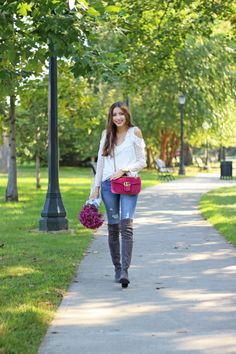 cdb4436411f Everyday Fall Outfit with Pink Velvet Gucci Marmont Bag Gucci Marmont Bag