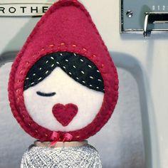 Little Red Riding Hood mini plush  nursery by PrettyPlush on Etsy, $18.00