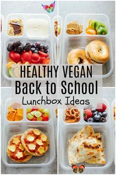 Healthy Vegan Back to School Lunchbox Ideas - NeuroticMommy  <br> *Recipe comes with video tutorial (see above)* These incredibly easy vegan lunches are perfect for both kids and adults alike! Making these will save you time, nourish you and your children all while being fun and delicious! Easy Vegan Lunch, Healthy Vegan Snacks, Vegan Lunches, Healthy Snacks For Kids, Healthy Recipes, Lunch Ideas Vegan, Vegetarian Kids Meals, Vegan Recipes For Kids, Vegan Snack Box