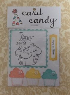 Happy Birthday Cupcake! Card candy