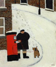 gary bunt(1957- ), the christmas list. oil on canvas, 22 x 18 ins. portland gallery, london, uk http://www.portlandgallery.com/artist/Gary_Bunt/item/archive/29962/(57)_The_Christmas_List