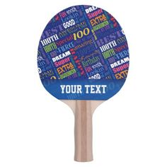Special 100th Birthday Party Personalized Monogram Ping Pong Paddle - birthday diy gift present custom ideas