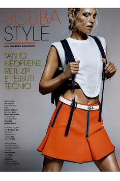 FAY for GLAMOUR Italy - 2014. Women's Spring - Summer 2014 collection - Skirt.