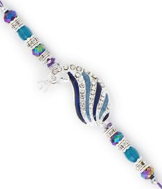 Aapno Rajasthan Peacock Shape Multicolor Cyrstal Beads Rakhi Rakhi, Pandora Charms, Peacock, Charmed, Shapes, Beads, Bracelets, Beautiful, Jewelry