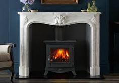 mantel for a double fronted wood burner - Google Search