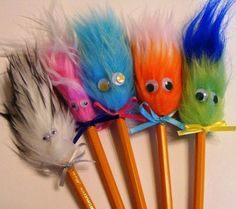 Fuzzy head pencils.