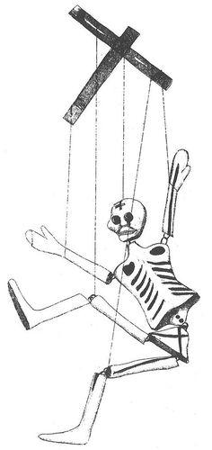 Muerte en cruceta; by Lola Cueto, 1947