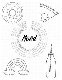 Free printable mood tracker templates that you can customize online before you print. Each item on the mood tracker can be edited to best suit your needs. Creating A Bullet Journal, Bullet Journal Mood, Bullet Journal Layout, Bullet Journal Stencils, Bullet Journal Printables, Tracker Free, Mood Tracker, Medication Log, Feelings Chart