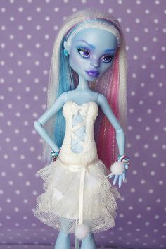 "♥CÉCILE♥ OOAK custom repaint ""Sweet Collection"" Monster High doll Abbey Mattel by Raquel Clemente"