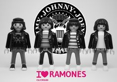Ramoes by playmobil Joey Ramone, Ramones, Rock Roll, Metallica, Funny Caricatures, Band Posters, Designer Toys, Death Metal, Toys For Boys