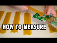 How To Measure One Portion Of Spaghetti You Need To Know. Kitchen secrets - how much is one portion of spaghetti. In this video I measured 8 portions of spaghetti for 8 people.  For this you can use a bottle. Also, even easier way, you can use your fingers. Make a ring of two fingers. However, different people have different sized of fingers)) Though, and the serving size is different for different people. For someone one portion of spaghetti is size of the two bottles)) Anyway enjoy!