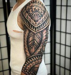 Maori Sleeve Tattoo - Best Sleeve Tattoos For Men: Cool Full Sleeve Tattoo Ideas and Designs tattoos 125 Best Sleeve Tattoos For Men: Cool Ideas + Designs Guide) Polynesian Tattoo Sleeve, Maori Tattoo Arm, Polynesian Tattoo Designs, Maori Tattoo Designs, Tribal Sleeve Tattoos, Best Sleeve Tattoos, Samoan Tattoo, Tattoo Sleeve Designs, Leg Tattoos