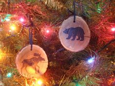 Wood Adirondack Rustic Christmas Ornaments by AdirondackMetal, $12.00
