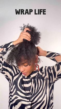 Natural Hair Types, Natural Hair Journey, Hair Inspo, Hair Inspiration, Bandanas, Curly Bun, Wrap Style, My Style, African Head Wraps
