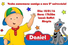 Convite digital personalizado Caillou 004