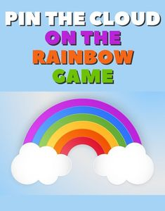 Rainbow Party Games, Rainbow Party Decorations, Rainbow Parties, Rainbow Birthday Party, Rainbow Theme, 5th Birthday, Rainbow Colors, Birthday Party Games For Kids, Birthday Party Themes