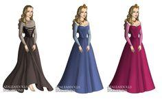 Princess Aurora (Sleeping Beauty) outfits by sarasarit on deviantART Bridesmaid Dresses, Prom Dresses, Formal Dresses, Wedding Dresses, Sleeping Beauty Princess, Aurora Sleeping Beauty, Disney Princess Aurora, Briar Rose, Deviantart