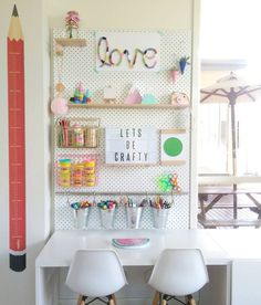 Ideas para decorar zonas de estudio infantiles