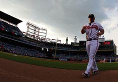 Dan Uggla #26 Of The Atlanta Braves Walks