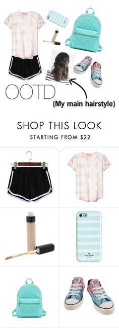 """OOTD"" by gussied-up ❤ liked on Polyvore featuring Gap, Chanel, Kate Spade and Converse"