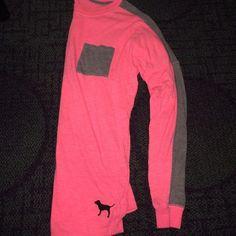 Pink pocket tee XS No flaws !! PINK Victoria's Secret Tops Tees - Long Sleeve
