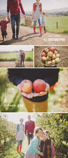 Family session - at the apple orchard