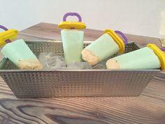Paletas heladas de pay de limón