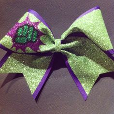 3in. Glitter Incredible Hulk Superhero Cheer Bow by BowsByTeri
