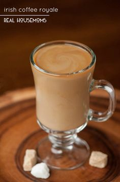 If you're looking for coffee with a kick, end your day with this hot IRISH COFFEE ROYALE made with brandy and Irish cream!