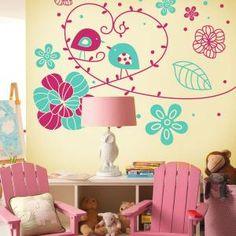 Vinilo Decorativo Naturaleza Romántica Handmade Home, Girls Bedroom, Wall Design, Ideas Para, Baby Room, Paint Colors, Glass Art, Photo Wall, Wall Decor