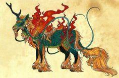 The gentle and benevolent Qilin of Chinese mythology