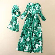c165674892c ... Посадочной Полосы Тенденция Макси Длинные Платья Печатных Зеленый  Красочные Длинным Рукавом Бальное платье Платья Высокого Качества купить на  AliExpress