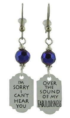 Unique Creations — I Can't Hear You Earrings