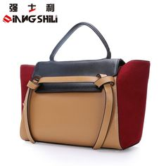 68.90$  Buy now - http://alifxw.worldwells.pw/go.php?t=32665726912 - Hot Sale 2016 Spring Summer Handbags Europen Hit Color Cowhide Leather Bag Lady Messenger Laptop Bag Large Capacity Women Totes