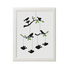 Birds Cross Stitch patterns Tree Cross от AnimalsCrossStitch