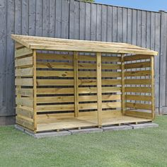 Firewood Shed, Firewood Storage, Backyard Patio Designs, Backyard Landscaping, Outdoor Bike Storage, Bbq Shed, Bike Shelter, Wood Bike, Log Store