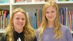 Sara Törnroos och Lisa Estlander läser gärna fantasy.