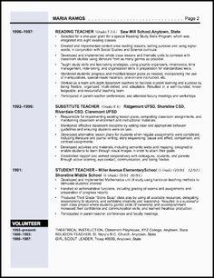 sample resume template for elementary education teacher 1