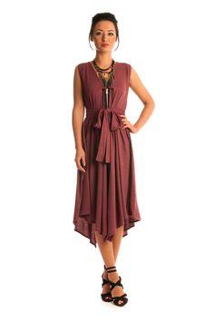 Jolaby - Ref 1065 - V-Neck Zip Dress - One Size - DRESSES - CLOTHING