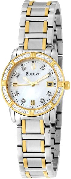 Bulova Women's 98R107 Diamond Accented Calendar Watch, Disclosure: Affiliate Link *$313.92 - 318.75