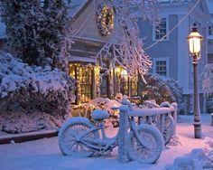 Cold, snowy night,