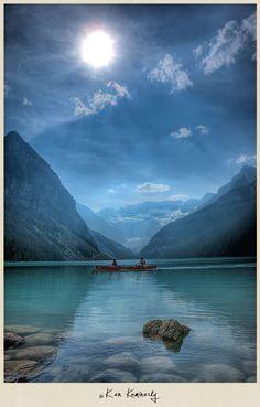 Beautiful Lake Louise in Banff National Park, Alberta, Canada