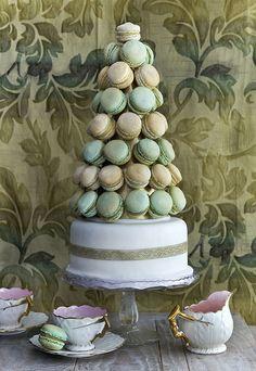 Colorful Macaroons Cake