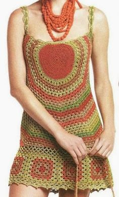 Granny squares and circles with diagrams