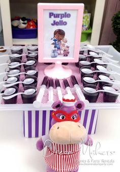 Purple Jello  for your Doc McStuffins Party | Doc McStuffins Birthday Party Ideas | Doc McStuffins Party | Doc McStuffins | Doc McStuffins Food |