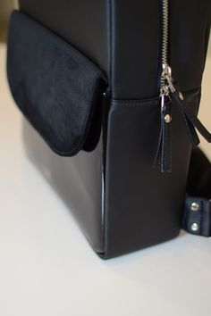 Black Women/'s Backpack Atmosphere Primark Faux Leather Glamour Fashion Rucksack