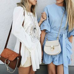 These two outfits are perfect examples of what I would wear to brunch or even out to a nicer dinner or event. While not formal wear, I am always very casual and do not typically wear any (if at all) jewelry.