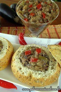 pasta_de_berinjela_f. I Love Food, Good Food, Yummy Food, Vegetarian Recipes, Cooking Recipes, Portuguese Recipes, Light Recipes, Food To Make, Easy Meals